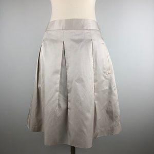 BCBGMaxazria Satin Pleated Full Skirt with Pockets